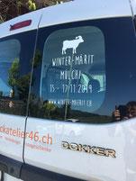Druckatelier46 Mülchi - Autobeschriftung Winter-Märit Mülchi