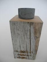 --GREY-- Teelichhalter aus Treibholz