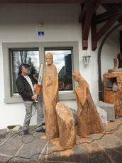 Krippenfiguren Holzskulpturen