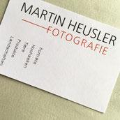 Druckatelier46 - Gestaltung Visitenkarte Martin Heusler Fotografie