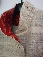 ヒマラヤ山羊の手紡ぎ手織り