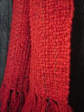 ウールの手織りマフラー