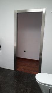 cerco de acero inoxidable para puerta