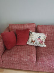 Sofa mit Kissen - Kissen nähen