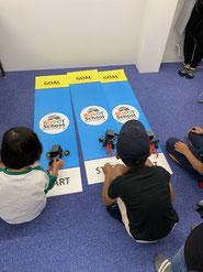 ヒューマンロボット教室体験会のロボットレース