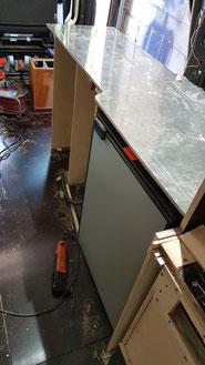 Der Küchenblock noch ohne Schubladen