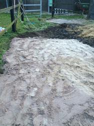 Mud Grid verfüllt mit Sand