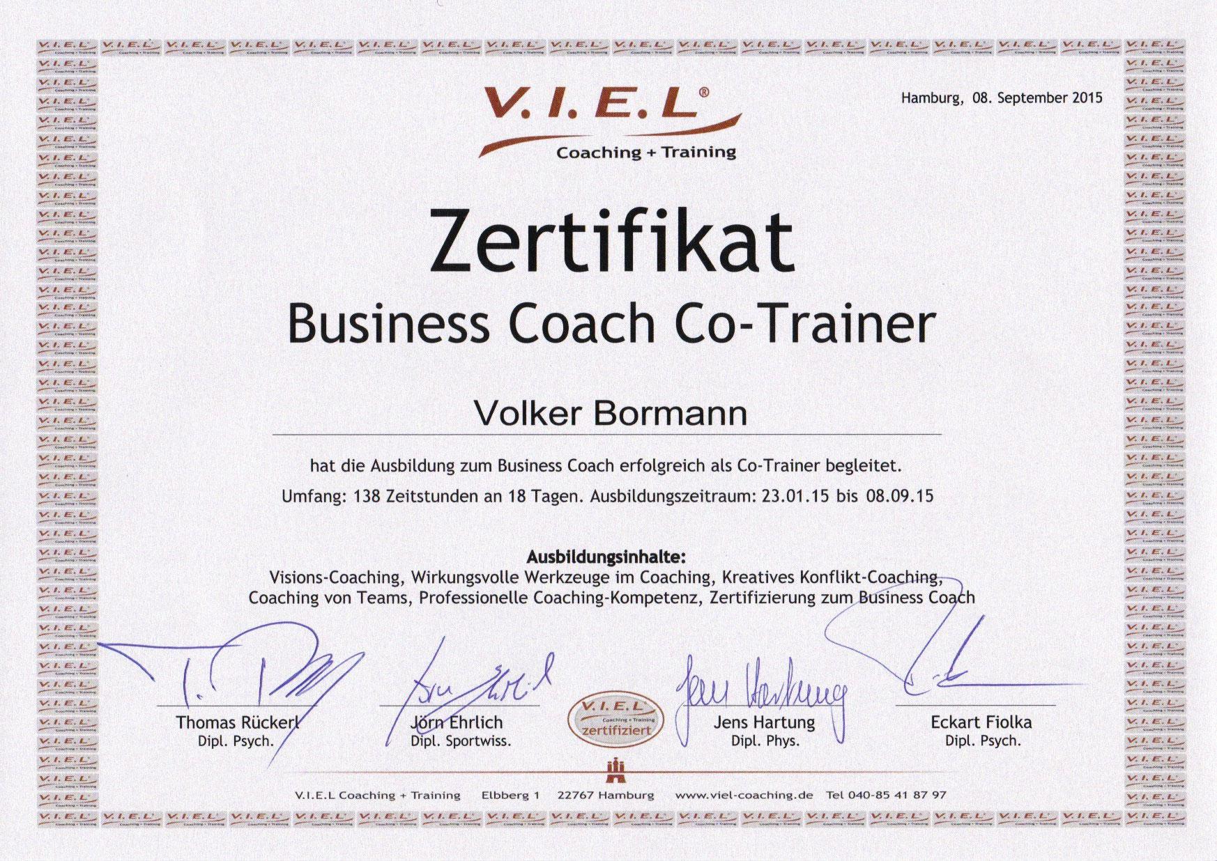 Co Trainer Bei Viel Coaching Training Der Kompetentmacher