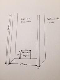 Garderoben Einbauschrank Skizze Wandnische der Kundin