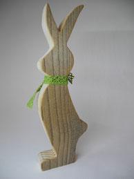 --BUNNY V-- Mittlerer Hase aus Altholz