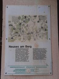 Info-Tafel über den Weinort