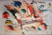 Farbstift, Deckweiß, Papier. 18,5 x 21 cm. 2020.