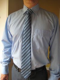 Krawattenlänge zu lang