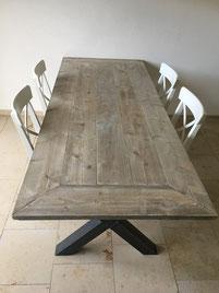 Steigerhouten tafel Brabant X-poot vanaf €299,-