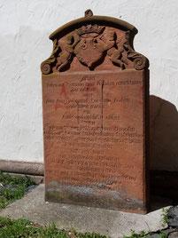 Grabstein der Caroline Koch (1745-1778)