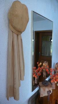 Cordmütze mit Schal