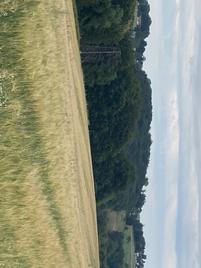 Stoppelacker vom Weizenfeld in Herkenrath Anfang August 2019
