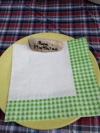 Tischdeko Papa Matthias