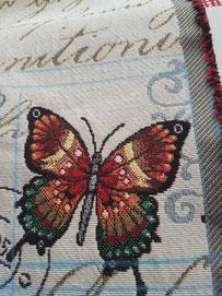 Motiv Schmetterling aus Stoffrest