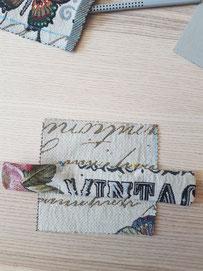 Briefumschlag nähen zum Befestigen