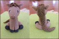 Tutoriel pour modeler un petit cheval, pâte à sucre, cake design