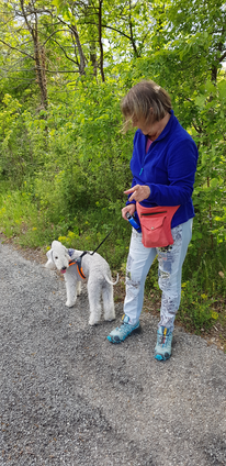 Joy et sa maman en promenade fin avril 2019