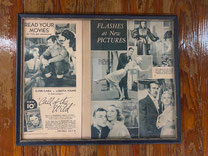 Framed Movie Star Magazine Page $12,50