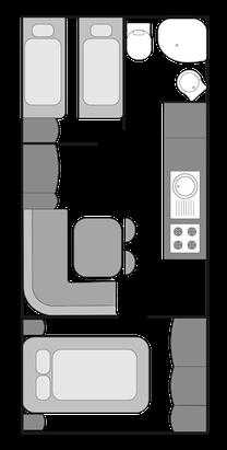 Grundriss Mietwohnwagen BASIC