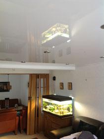 Bild CILING-Spanndecke, Weiß, Glanz mit Einbaustrahlern