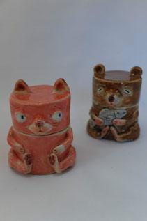 i-ppoたおか 田岡正臣 陶人形 ネコ ネズミ