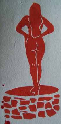 Le soir, Blandine Guérin, de Vaucé (Sarthe), se dévêtit dans l'escalier et, nue comme un mur d'école, alla se noyer au puits.
