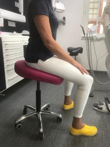 Tabouret dentiste intelligent siège + selle dynamique