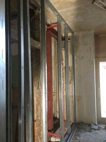 Trockenbau Ständerwände für neue Raumaufteilung