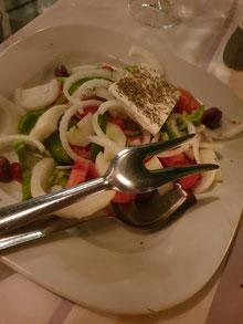 Petrino Kos Stadt Griechischer Salat