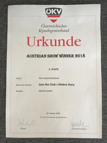 TOP DOG Austrian Show Winner 2018