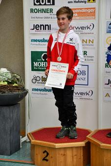 Alois Abfalterer strahlt über seine erste österreichischen Einzelmedaille