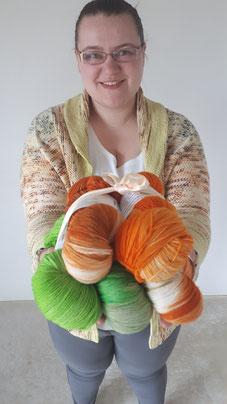 Färbestudio ScreamingColours handgefärbte Wolle