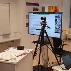Nicht vor Ort, aber trotzdem zusammen: Impulse und Gespräche bei der Modellschulung zur Demenz-WG fanden digital statt. | Foto: IZGS