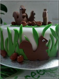 cake design tutoriel ecureuil