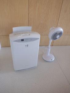 空気清浄機と換気のためのサーキュレーター