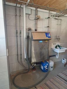 Reinigungsautomat, Reinigungsapparat, Spülautomat, Milchtank reinigen, Milchtank spülen,