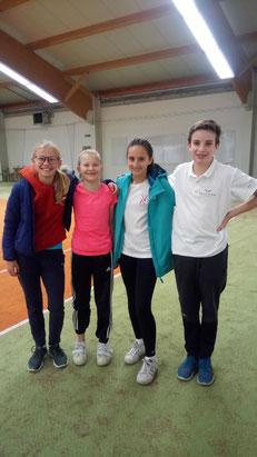 Die vier efolgreichen Tennistalente