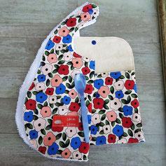 pochettes a couverts et a bavoirs artisanales pour bebe