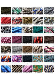 beschikbare kleuren ppm touw