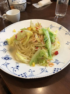 春キャベツたっぷりのスパゲッティ 美味しそう(^^♪  えッ??もちろん美味しいですよ(^^♪