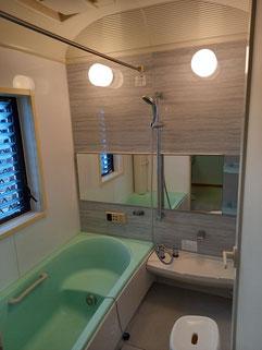 水回り5点セットハウスクリーニング完了写真、浴室