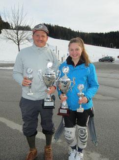 Die Vereinsmeister Lisa Ostner u Philipp Grötzinger