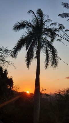 Sonnenuntergang über dem Valle de Mayabe