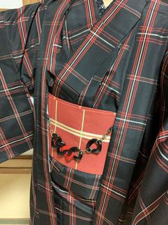 紬アンサンブル カジュアル着物 きものレッスンさくらさくら kimono