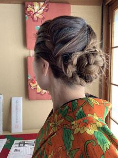 ウール着物 カジュアル着物 きものレッスンさくらさくら kimono